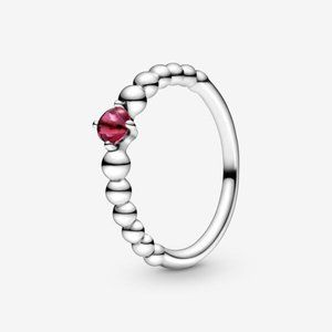 Pandora Blazing Red Beaded Ring